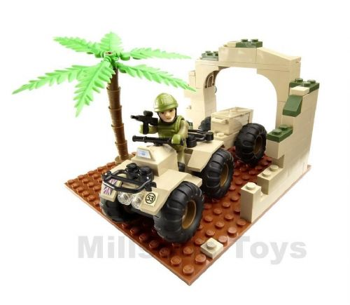 Character Building H.M Armed Forces  ARMY INFANTRYMAN & QUAD BIKE Mini set - NEW